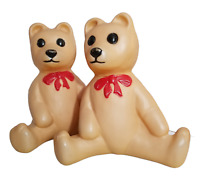 2 TEDDY BEAR VINTAGE BLOW MOLD 1988 OUTDOOR CHRISTMAS UNION PRODUCTS NO LIGHT