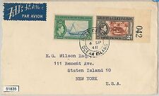 51835 -  Gilbert & Ellice -  POSTAL HISTORY - Airmail COVER to USA 1948