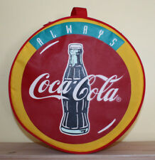 Vtg Coke Coca Cola Picnic Set In Zipper Case Bag Camping Hiking Plates Utensils