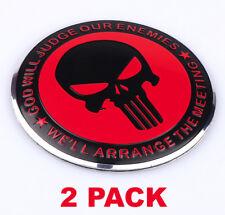 2x 3d Metal Punisher Molon Labe 2nd Amendment Sticker Decal Dome Shape 22