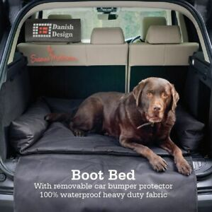 Dog Car Boot Bed Heavy duty waterproof fabric wipe clean soft padded base
