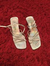 ladies silver strappy Sandals size 6