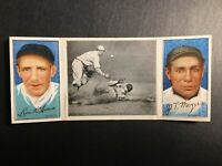 1912 Hassan Triple Folders T202 #49 Donlin Out~ Charlie Dooin~ S. R. Magee G-G+