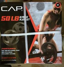 """2 x 25 lbs Weight  Plates 50lb Total 2"""" Hole Olympic Barbell CAP Fast SHIPS FAST"""