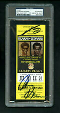 1981 Leonard Hearns 1 Authentic Dual Autograph Boxing Ticket Caesars PSA/DNA