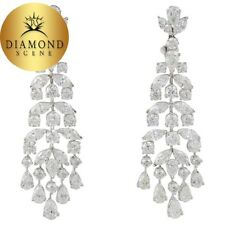 Classic Diamond Gold Chandelier Earrings 15.18 carats of beautiful F VS 18 k