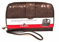 FAT WALLET Mundi Women ALL IN ONE Faux Leather ID Card Ladies Clutch Bronze 560X