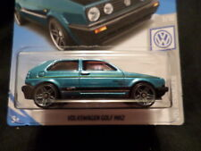 HW HOT WHEELS 2019 HW VOLKSWAGEN #7/10 VW GOLF MK2 TEAL HOTWHEELS VHTF