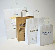 More details for custom printed paper bags 1-4 colours logo digital print twist handle 24 x 31cm