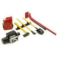 6Pcs RC Rock Crawler Decoration Tools Kit for 1/10 SCX10 D90 RC Accessories