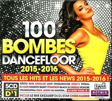 100 BOMBES DANCEFLOOR 2015-2016 - 5 CD COMPILATION NEUF ET SOUS CELLO