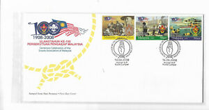 Malaysia 2008 The Scouts Association of Malaysia 100th Anni FDC