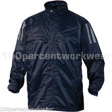 Taille M Panoplie KISSI bleu marine imperméable PVC Veste Manteau + capuche imperméable