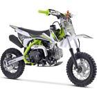 MotoTec X1 70cc/110cc 4-Stroke Gas Dirt Bike Green, Free Ship to 47 States Only
