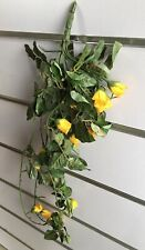4X Artificial Yellow Orange Rose Flower Vine Leaves we-flo106