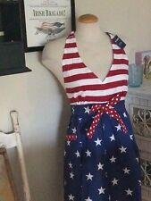 4th of July Patriotic American Flag Full Length Woman's Apron NEW!