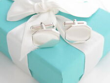 Auth Tiffany & Co Silver Octagon Cufflinks Cuff Link Links