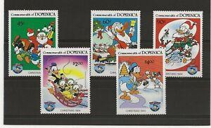 Dominica Disney 1984  Xmas sg.928-32 MNH set of 5