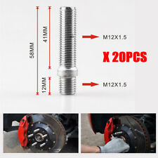 20 PCS BMW EXTENDED WHEELS STUD CONVERSION 12x1.5 TO 12x1.5  58MM SCREW ADAPTER