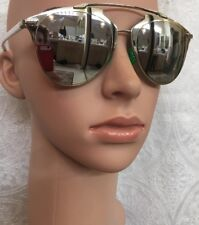 Christian Dior Reflected silver mirror white arms sunglasses