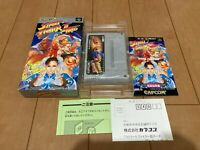STREET FIGHTER II TURBO Japan Super Famicom SNES BOX and Manual