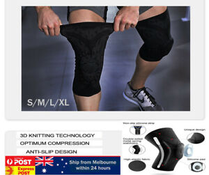 3D Knee Brace Compression Sleeve Patella Tendon Support Strap Breathable sports