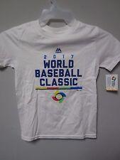 Majestic 2017 World Baseball Classic White Youth T-Shirt Size S (8)