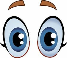 Ojos De Dibujos Animados Y Divertidos irritados coche Ojos Sticker Etiqueta de vinilo gráfico Etiqueta V5