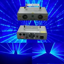 Double Lens 600mW Blue DMX Stage Laser Lighting  DJ Party Laser Light