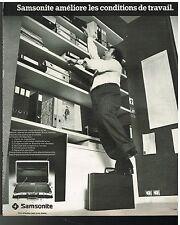 Publicité Advertising 1977 Les Valises Attachés-Case samsonite