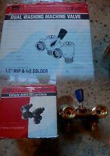 Dual Washing Machine Valve / 102-207 / Brass / Mueller Industries