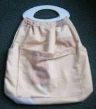White Handled Knitting / Hobby / Craft / Beach / Teenage / Overnight Bag