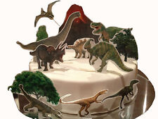 Dinosaur Edible Cake Decoration Set- Wafer Toppers