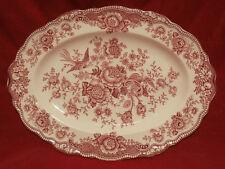 Crown Ducal England Bristol rot mittelgrosse Servier Fleischplatte  31 x 23,5 cm