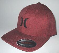 MENS HURLEY BURGUNDY MAROON  HAT FLEX FIT FITTED CAP SIZE S/M