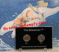 2018 2019 The Snowman 50p Coin Empty Display Case For Christmas Gift (NO COINS )