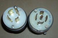 Lot of 2 Hubbell 20A 120/208V MALE/20A 30 480VAC MALE Twist-Lock Plugs