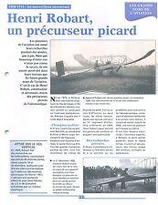 WWI Henri Robart Constructeur Aéronautique 1er groupe d'aviation  FRANCE FICHE