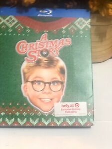 NEW A CHRISTMAS STORY BLU RAY + TARGET EXCLUSIVE UGLY SWEATER HOLIDAY SLIPCOVER