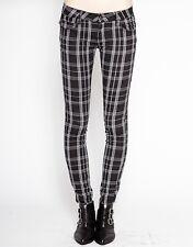Tripp NYC Black Plaid Jeans Goth Punk Emo