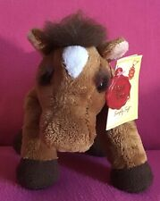 "Keel Toys Brown Horse Pony Soft Plush Toy 9"" Tags Simply Soft Floppy Farmyard"