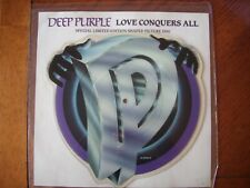 """deep purple love conquers all 7"""" shaped picture disc vinyl limited edition"""