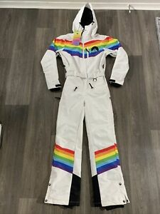NWT Oosc Clothing Women's Rainbow Road Ski Suit Size XS