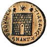 """Constantine I The Great """"PROVIDENTIAE AVGG Campgate"""" Antioch Rare gVF Desert"""