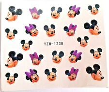 Mickey Mouse Minnie Nail sticker DIY decal 2 sheets fingernail Disney
