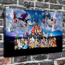 "Disney kingdom Painting HD Canvas Print 24""x36"" Home Decor Painting Wall Picture"