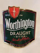 Worthington Best Bitter Brass beer tap handle top badge William H Worthington