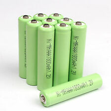 10 pcs AAA 1800mAh 1.2V Ni-MH rechargeable battery for Solar Light MP3 RC Green