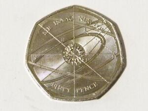 2017 Sir Issac Newton Fifty Pence 50 Pence Modern Coin EIIR #A27