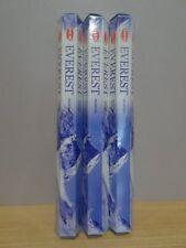 Everest Incense  3 Packs x 20 Sticks  HEM Hex   Free Post AU